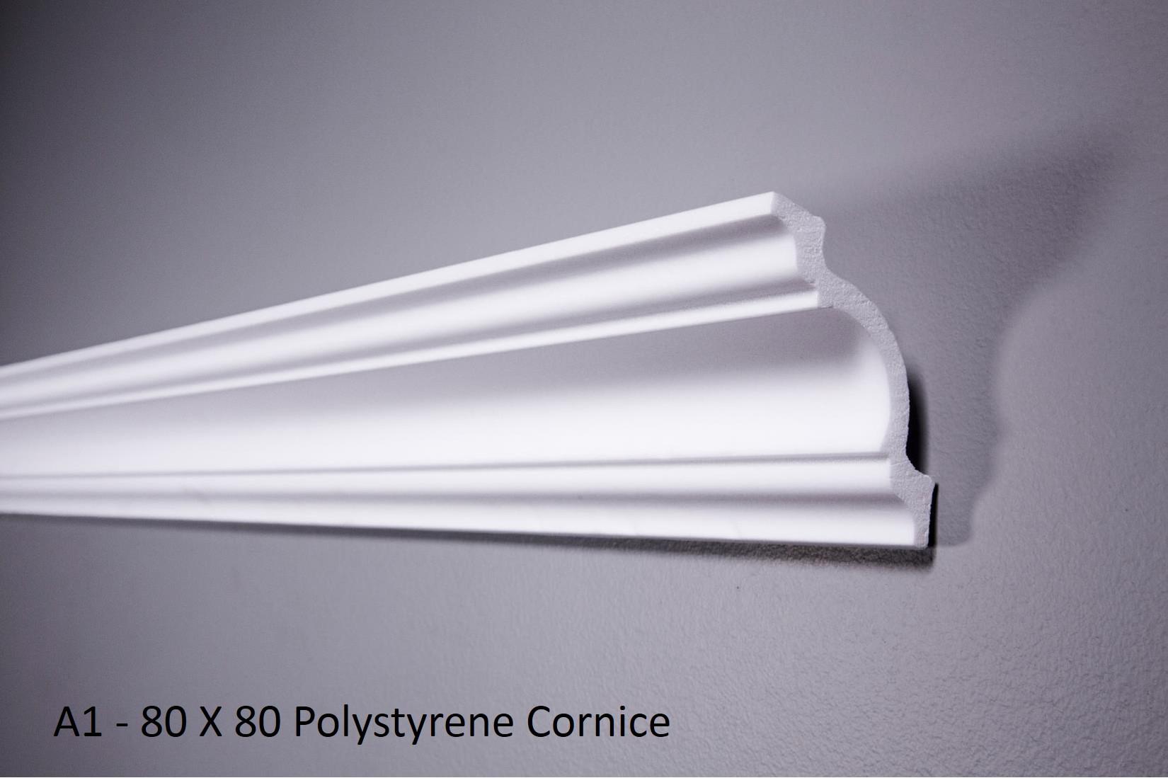 A1 - 80 X 80 Polystyrene Cornice