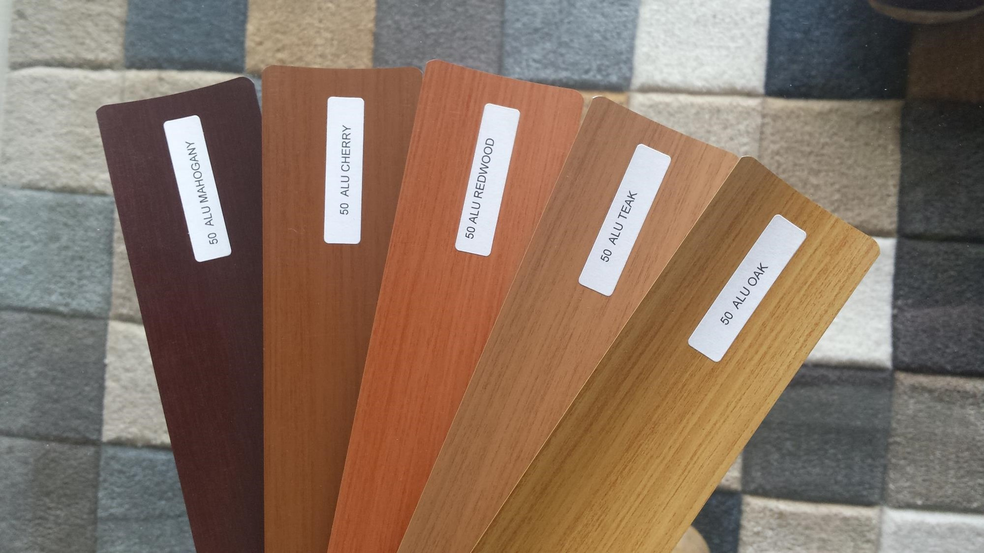 Alu50mm blinds colors