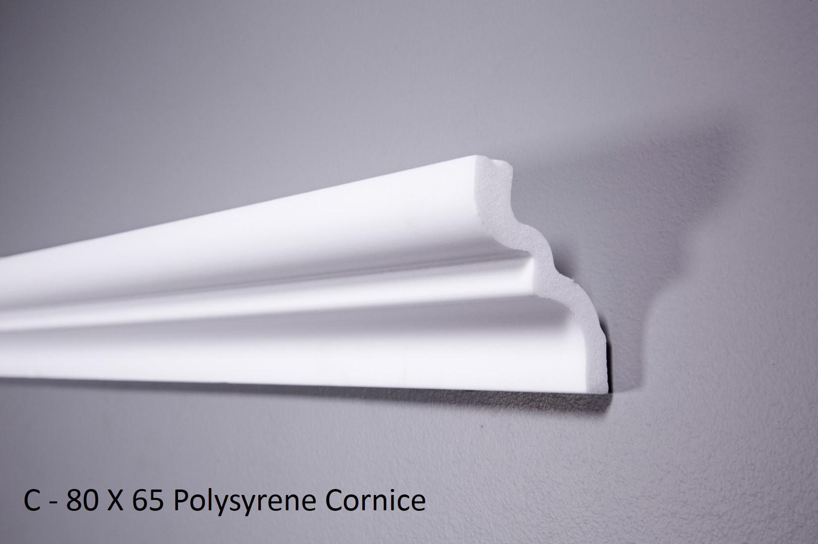 C - 80 X 65 Polysyrene Cornice