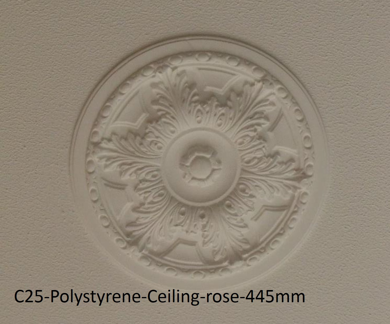 Extreme Mouldings C25-Polystyrene-Ceiling-rose-445mm