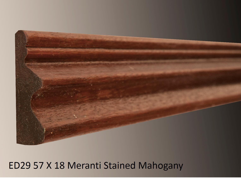 ED29 57 X 18 Meranti Stained Mahogany