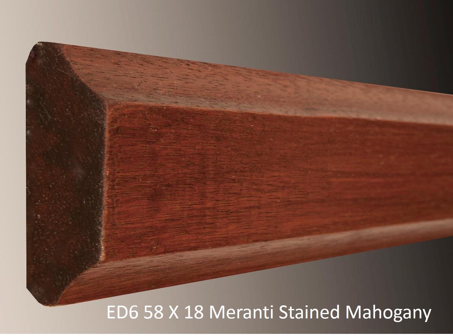 ED6 58 X 18 Meranti Stained Mahogany
