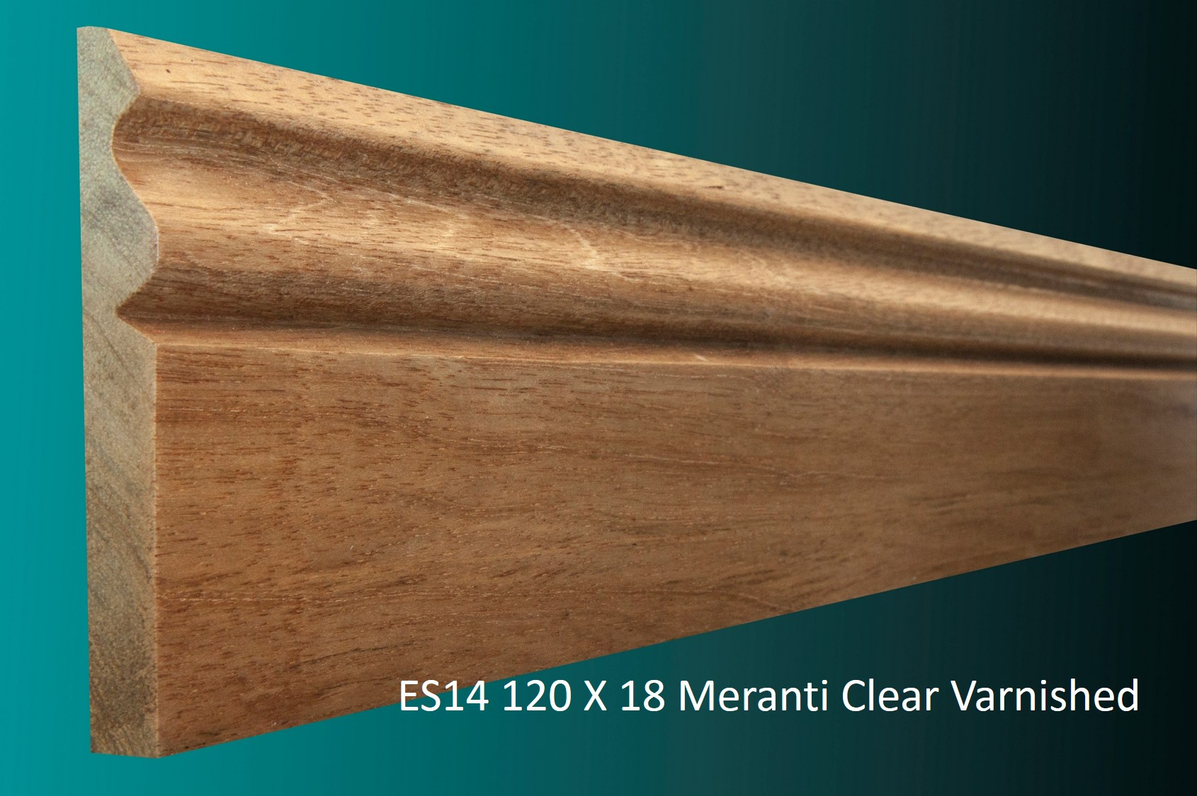 ES14 120 X 18 Meranti Clear Varnished