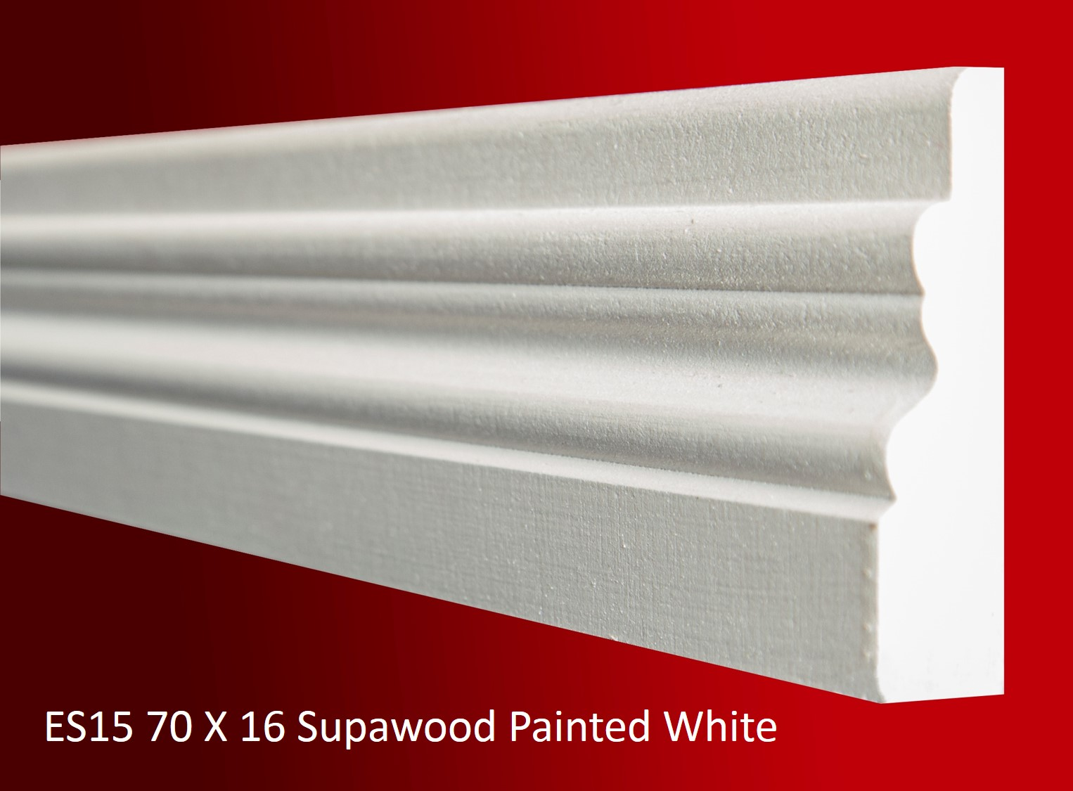 ES15 70 X 16 Supawood Painted White