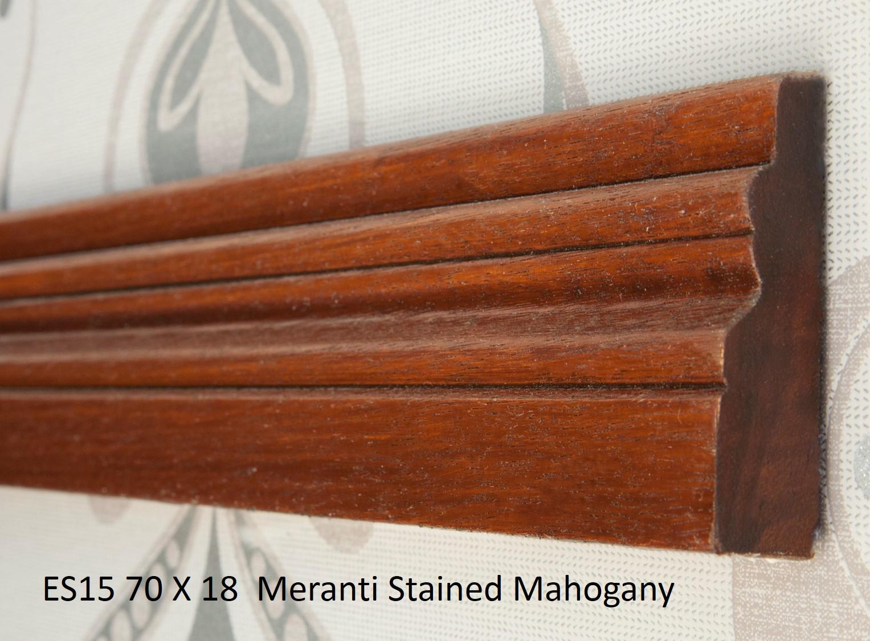 ES15 70 X 18 Meranti Stained Mahogany