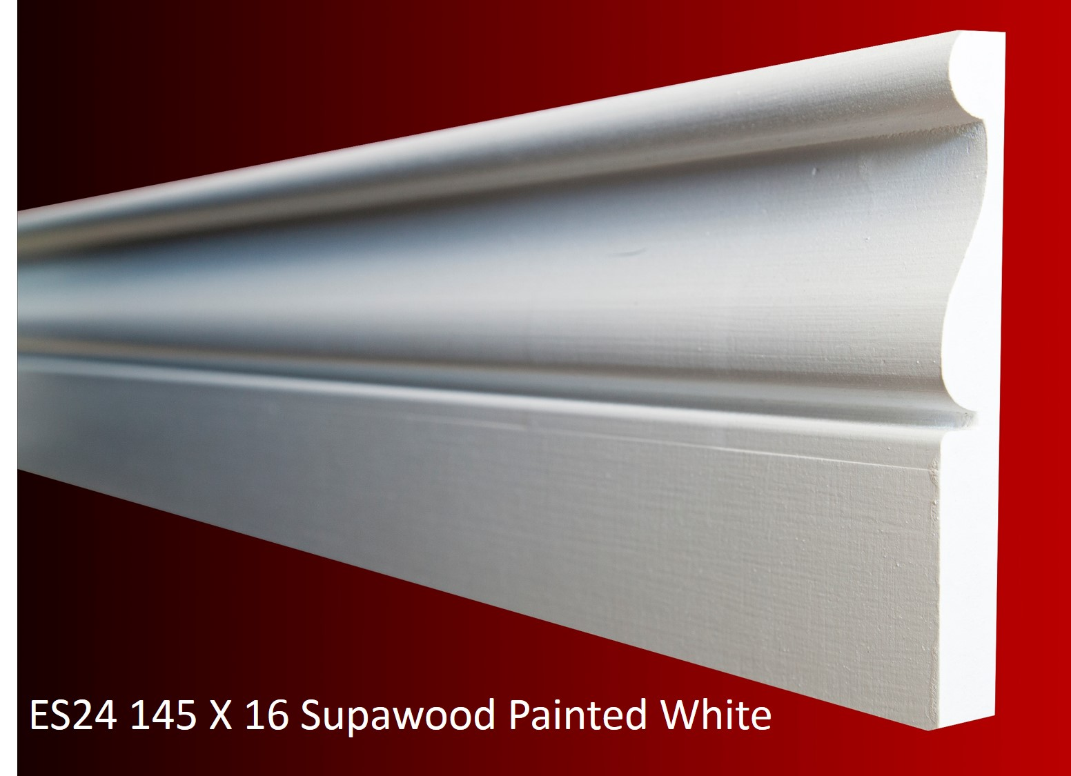 ES24 145 X 16 Supawood Painted White