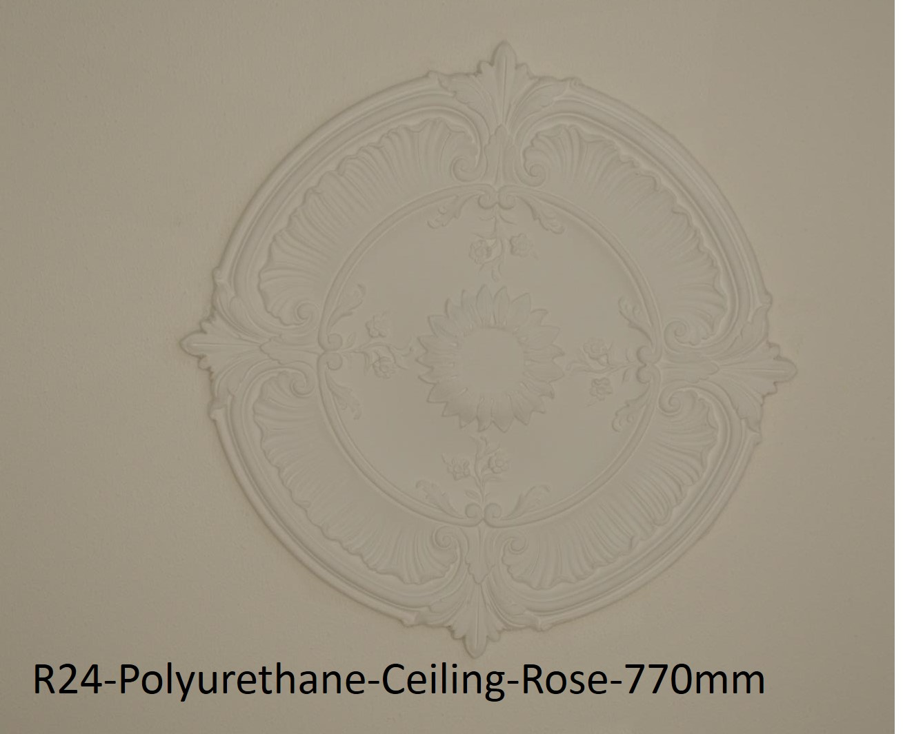 Extreme Mouldings R24-Polyurethane-Ceiling-Rose-770mm