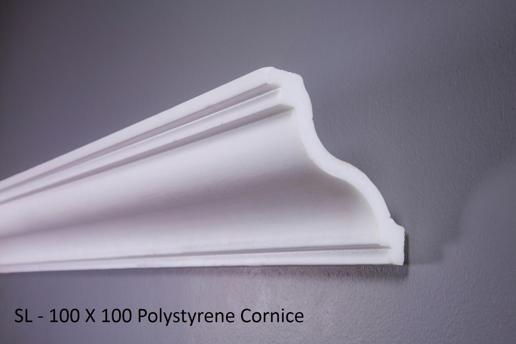 SL - 100 X 100 Polystyrene Cornice