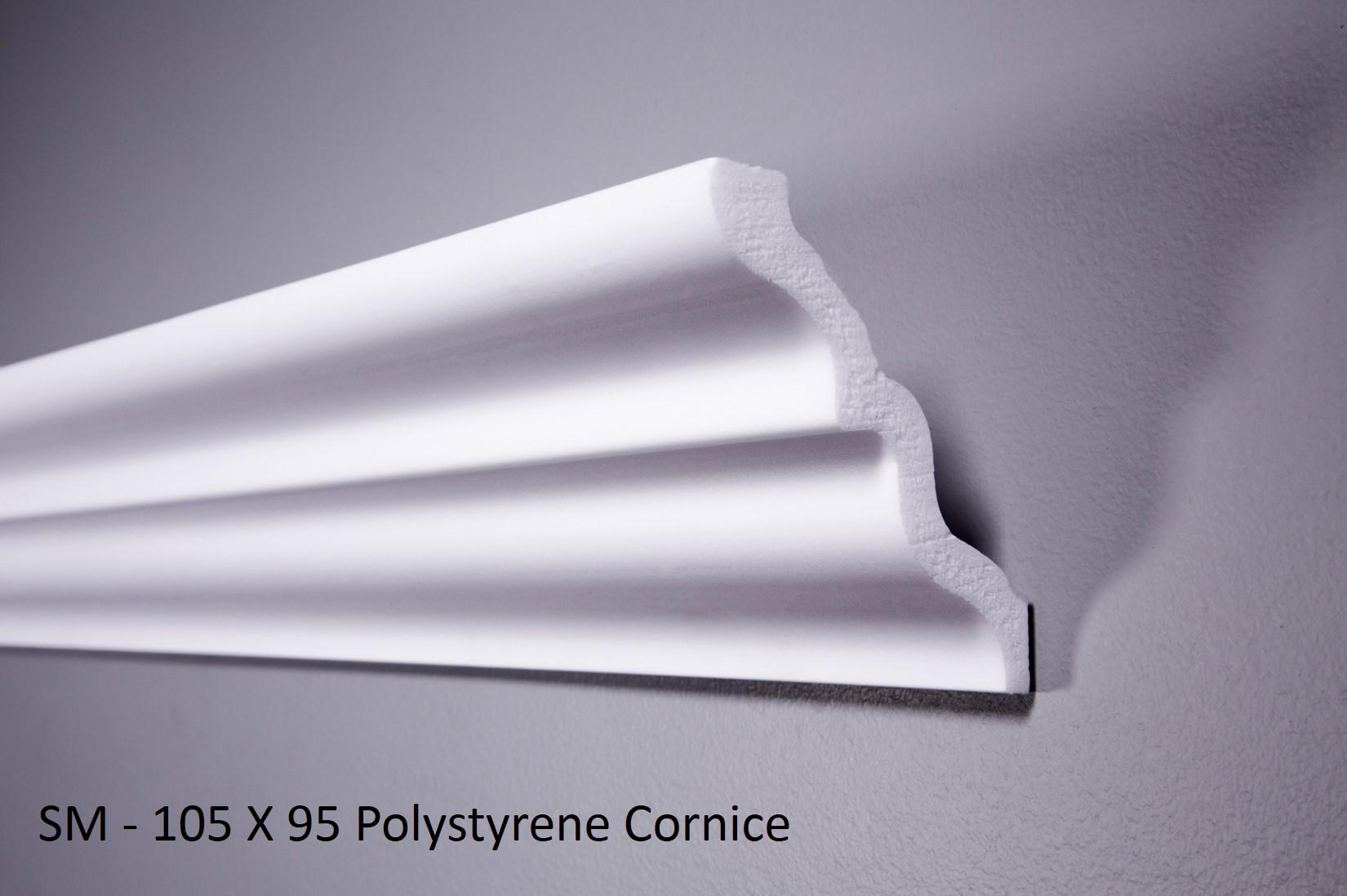 SM - 105 X 95 Polystyrene Cornice