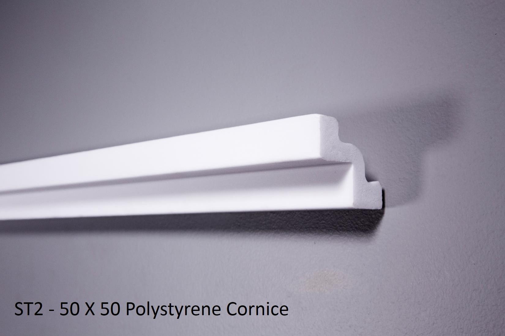 ST2 - 50 X 50 Polystyrene Cornice