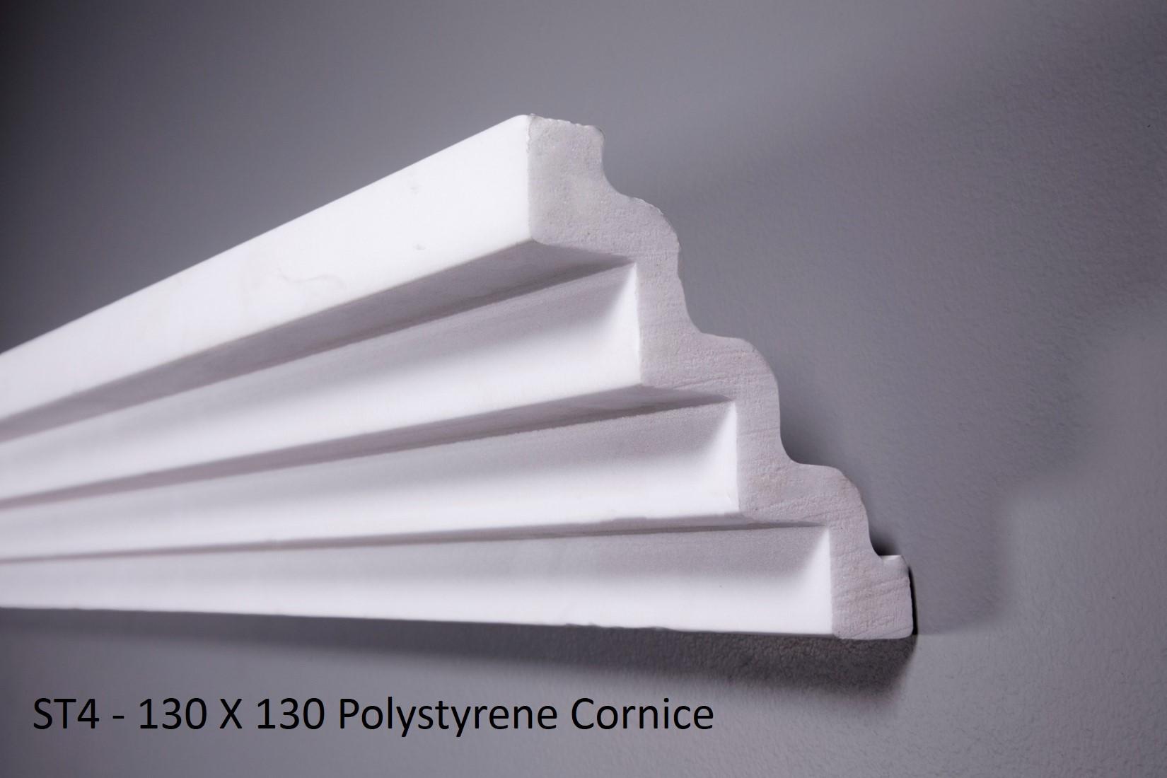ST4 - 130 X 130 Polystyrene Cornice