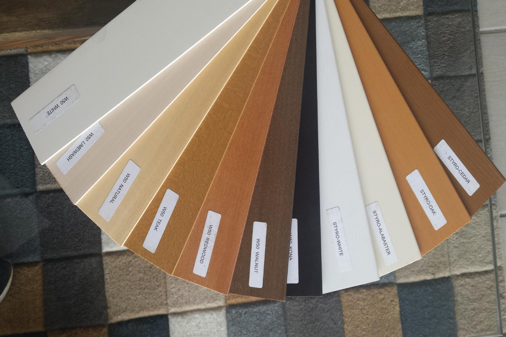 Wood and Styrowood Blind Colors